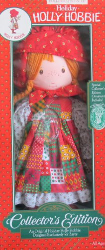 collector-edition-holiday-holly-hobbie-scented-185-doll-w-xmas-ornament-zayre-exclusive-1988