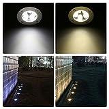 Bodeneinbaustrahler Aussen Einbaustrahler, Tomshine 5W LED Bodenleuchten Aussen 550LM Bodenstrahler Außen IP67 Wasserdicht AC/DC 12V Vergleich