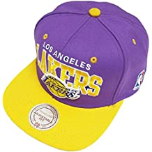 Mitchell & Ness and Los Angeles Lakers Purple NBA Team Arch Snapback Cap NA80Z