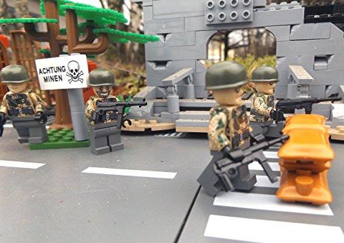 Modbrix 8821- ✠ 2 STÜCK Custom Minifiguren Wehrmacht Fallschirmjäger aus original Lego® Teilen inkl. MP40 Maschinenpistole ✠ - 3