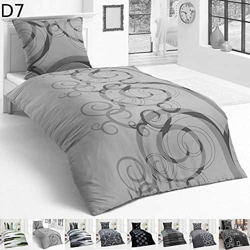 Dreamhome24 Warme Winter Microfaser Thermo Fleece Bettwäsche 135x200 155x220 200x200 Moderne, Design - Motiv:Design 7, Größe:135 x 200 cm