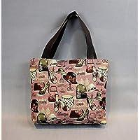 Preisvergleich für Yudanwin Leinwand-Lunch-Tasche Student Lunch Bag Cartoon Lunch Box Tasche Picknick Tasche (elfte)