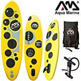 "Aqua Marina VIBRANT 8'7"" aufblasbares SUP Board - Damen Stand Up Paddelboard aufblasbar, inkl. Pumpe, Finne & Tragetasche"