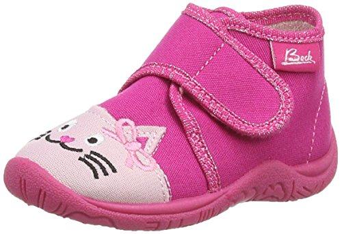 Beck Mädchen Cat Flache Hausschuhe, Pink (pink / 06), 19 EU