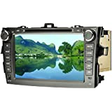 SAVORI Wince 8 Zoll Capacitive Touchscreen Toyota Corolla (2006-2011) 2 din In Dash Autoradio Moniceiver DVD GPS Navigation Freisprechfunktion Support Bluetooth WIFI Software USB