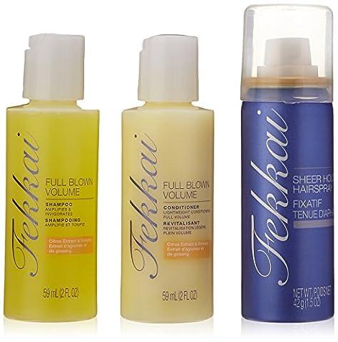 Frederic Fekkai Full Blown Volumen Shampoo, Spülung und Haarspray Set (3 Stück)