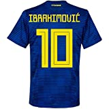 Schweden Away Trikot - Boys 2018 2019 + Ibrahimovic 10 (Fan Style) - 164cm