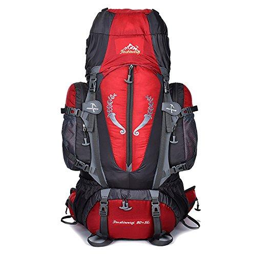 Skytower - zaino da escursionismo, capacità 80l, con supporto, per attività all'aria aperta, escursionismo, viaggi, arrampicata e campeggio, impermeabile, perfetto per la montagna