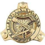 STREET CRAFT ®Brass Nautical SunDial Compass and Vernier Scale 305