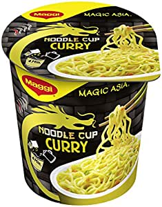 Maggi Magic Asia Noodle Cup Curry, 8er Pack (8 x 65 g)