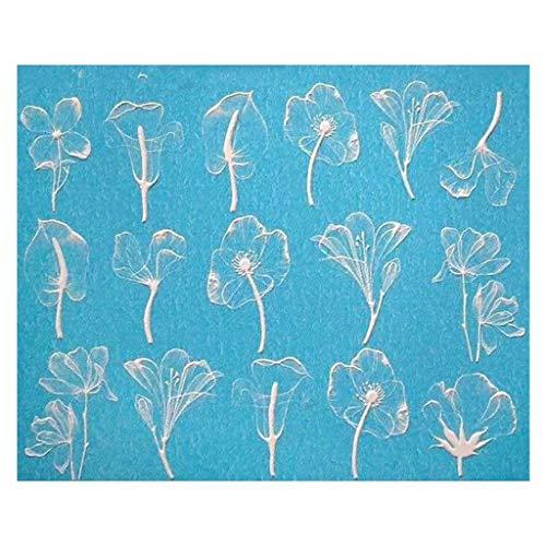 rte Handwerk Nagel Applique, Matte 6D Stereo abstrakt Wasserdichte nagelaufkleber, Foto, Make-up, Hochzeit ()
