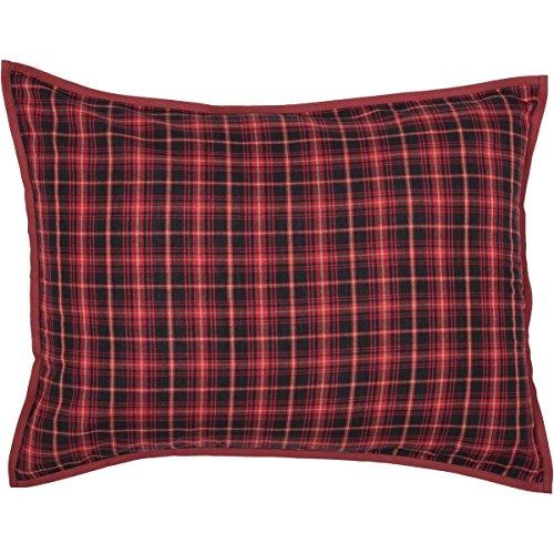 VHC Brands Seasonal Bedding Andes Sham, Standard, Rot