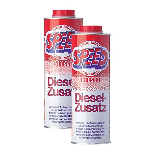 2x-LIQUI-MOLY-5160-Speed-Diesel-Zusatz-Zugabe-Kraftstoff-Additiv-1L