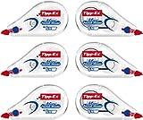 Tipp-Ex Mini Pocket Mouse Rubans Correcteurs - 6 m x 5 mm, Lot de 2 Blisters de 3
