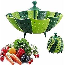 Evany Panier de Fruits et légumes Aliments Silicone Vapeur Steamer Plastique Sac de Cuisson Sac Vapeur