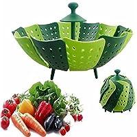 Cesta de frutas y verduras alimentos silicona vapor Steamer plástico bolsa para cocinar bolsa vapor