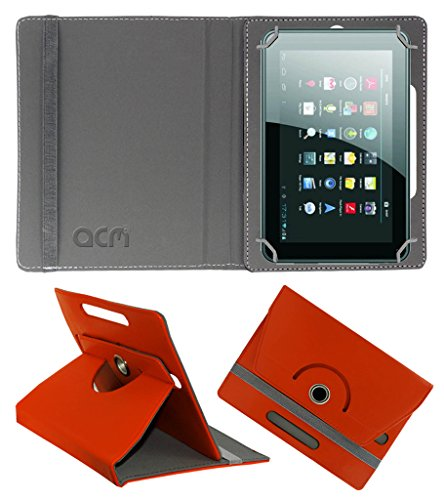 Acm Rotating 360° Leather Flip Case for Micromax Funbook P250 Cover Stand Orange  available at amazon for Rs.149