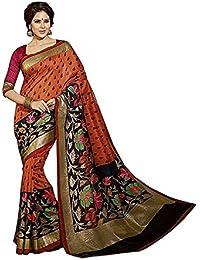 Globalia Creation Women'S Cotton Saree With Blouse Piece(Gol-384Yibf_Red_Free Size)