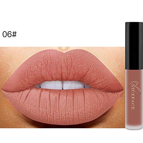 Rossetto sammoson biancheria intima matte liquido rossetto impermeabile labbro gloss trucco 12 occhiali da sole (f)