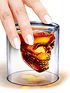Packnbuy Doomed Skull Shot Glass Use Upside Down With Whiskey Vodka Party Gift