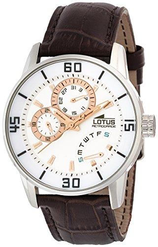 Lotus 15798/7 - Reloj de cuarzo para hombre, con correa de cuero, color marrón