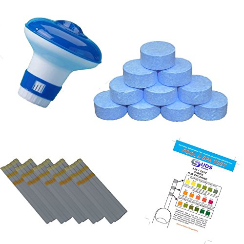 suds-online-floating-dispenser-with-20-x-20g-multifunctional-chlorine-tablets-for-pools-spa-hot-tub-
