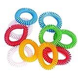 ACRATO Mückenschutz Armband Moskito Silikon Insektenschutz Armband 10er Pack Mix Blau Rot Weiß Orange u.Grün
