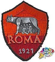 Pignatta della Roma squadra calcio (piñata, pentolaccia) per feste di compleanno di piccoli tifosi. Personaliz