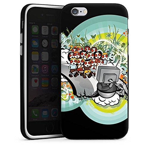 Apple iPhone 4s Housse Outdoor Étui militaire Coque Graffiti Street Art Téléviseur Housse en silicone noir / blanc