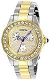Invicta 28458 Angel Damen Uhr Edelstahl Quarz goldenen Zifferblat