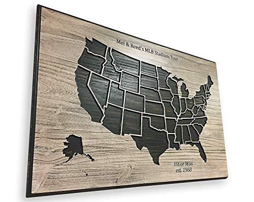 Baseball-Reisekartenverfolgung, MLB Stadien, Eimerliste, Karte MLB Pro Baseball Push Pin Karte Mark Cities Jahrestag Geburtstag Geschenk Idee cb671334
