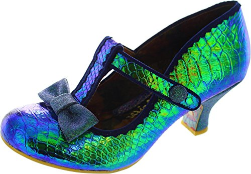 Irregular Choice Damen Lazy River Pumps Blue & Green