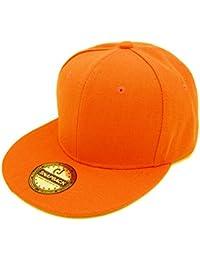 OUTLETISSIMO® Cappello Arancione con Visiera Piatta Cappellino Cotone  Snapback Rapper bdfc9f4f03ee