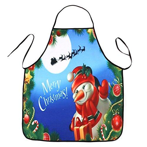 Lqchl 1Pcs 70*80Cm Décoration De Noël Tablier Imperméable En Polyester Pour Le Dîner De Noël Cuisine Tablier Partie Décoration D,D