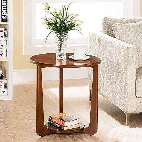 MDD Regal Couchtisch Tisch Seitenhalle Lampe Fabrik Hohe Kaffee Weinkorridor Möbel 500 X535Mm Rahmen Platzsparend und einfach zu installieren,Nussbaum -