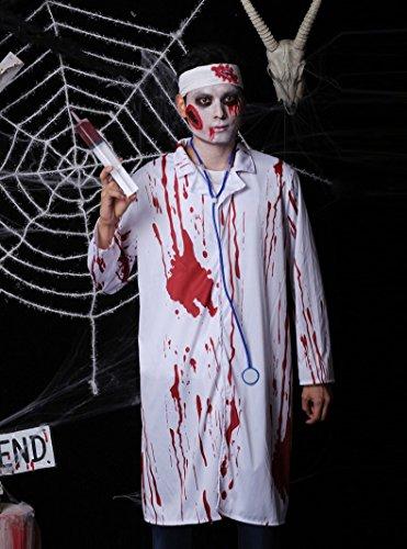 Halloween Rollenspiel Cosplay Kostüm Erwachsene männlich Maskerade Leistung Horror Vampir Arzt Kleid Kleidung Festival / Halloween / Weihnachten (Männliche Vampir Kostüme)