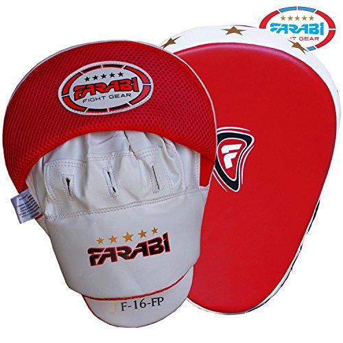 Farabi Focus Pads Hook & Jab muffole Boxe per addestramento Resistente Pelle Sintetica Curvo