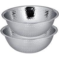 Kosma–Set di 3in acciaio inox Ciotola, Ciotola per insalata (martellato)