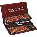 Lyra - Estuche de madera con 96 lápices de colores y accesorios