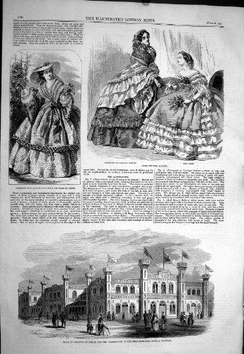 1858 errichtende Zürich-Schweizerbürger-musikalische Festival-Damen arbeiten Ball-Kleid um