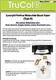 10 Blatt Wasserschiebefolie Decal Papier Transfer Folie DIN A4 transparent für Laserdrucker Kopierer ( nur der Druck wird übertragen – keine Folie ) für poröse Materialien (Holz, Mauerwerk, Ziegel, Steine, Leder, Kunststoff.... )