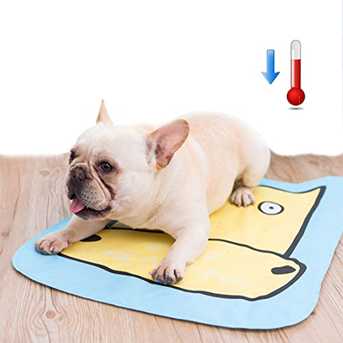 DIY Haus Pet Dog Cat Cooling Pad Matte Bett Sommer Matratze Hitze Relief (Kühe)