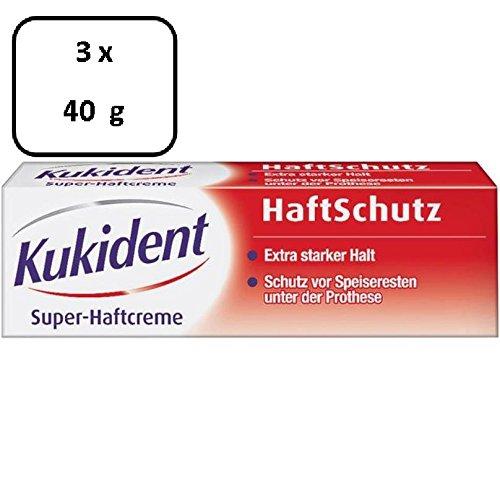 3 x Kukident Super-Haftcreme HaftSchutz - 40 g
