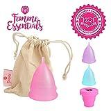 Cup menstruelle Femme Essentials + sac - Taille S / Petite (couleur rose)