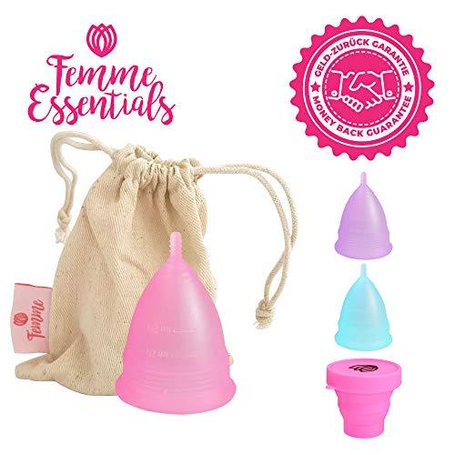 Copa Menstrual Femme Essentials 100% Silicona Hipoalergénica