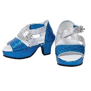 The New York Doll Collection Azules de tacón Alto Adapta a Todas Zapatos de muñeca de 45 cm (43221-1845)