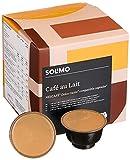 Marca Amazon-Solimo Cápsulas Cafè Au Lait, compatibles Dolce Gusto- café certificado UTZ- 96 cápsulas (6 x 16)