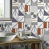 JY ART Wand-Aufkleber Küche Deko Badezimmer-Gestaltung - Küchen-Fliesen überkleben - Dekorative Bad-Gestaltung - Fliesen-Aufkleber 20cmx5m HB019, 20cm*5m