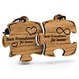 Fashionalarm Schlüsselanhänger Puzzle Beste Freundinnen für Immer aus Holz mit Gravur | Geschenk Idee Freundin Geburtstag Weihnachten Nikolaus