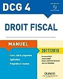 dcg 4 droit fiscal 2017 2018 11e ?d manuel